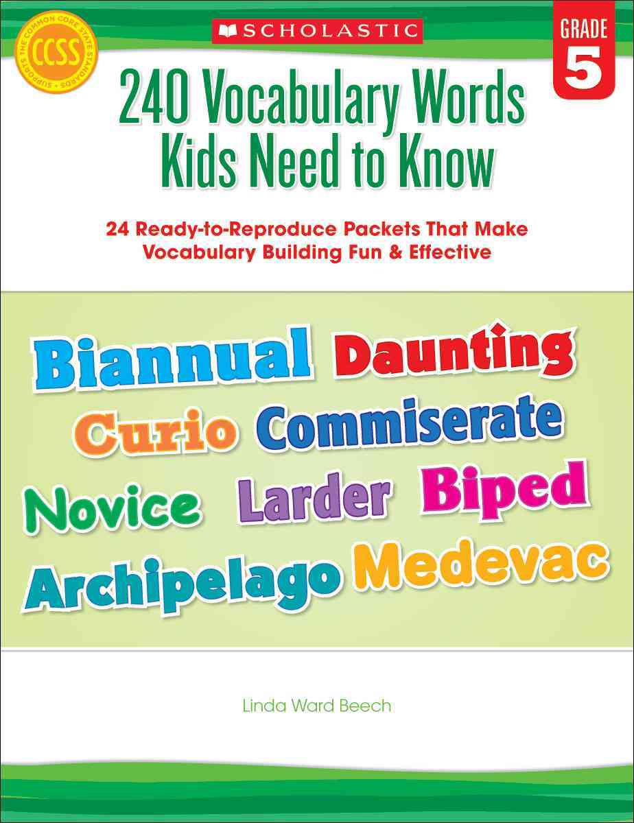 240 Vocabulary Words Kids Need to Know, Grade 5 By Beech, Linda Ward